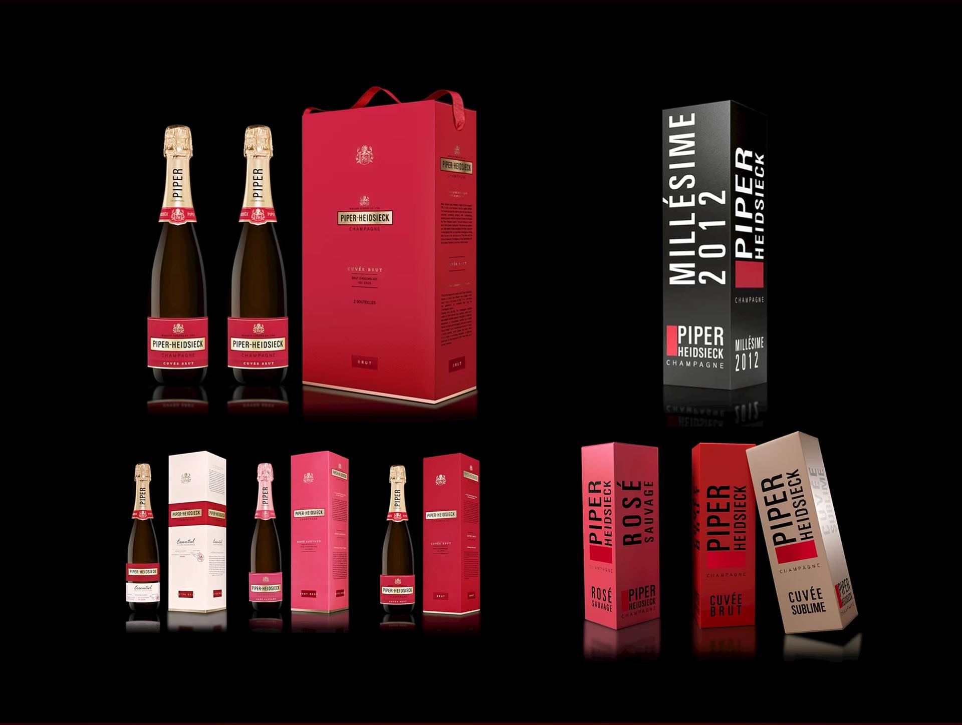 Packaging réalisé par Etude de K pour Piper-Heidsieck