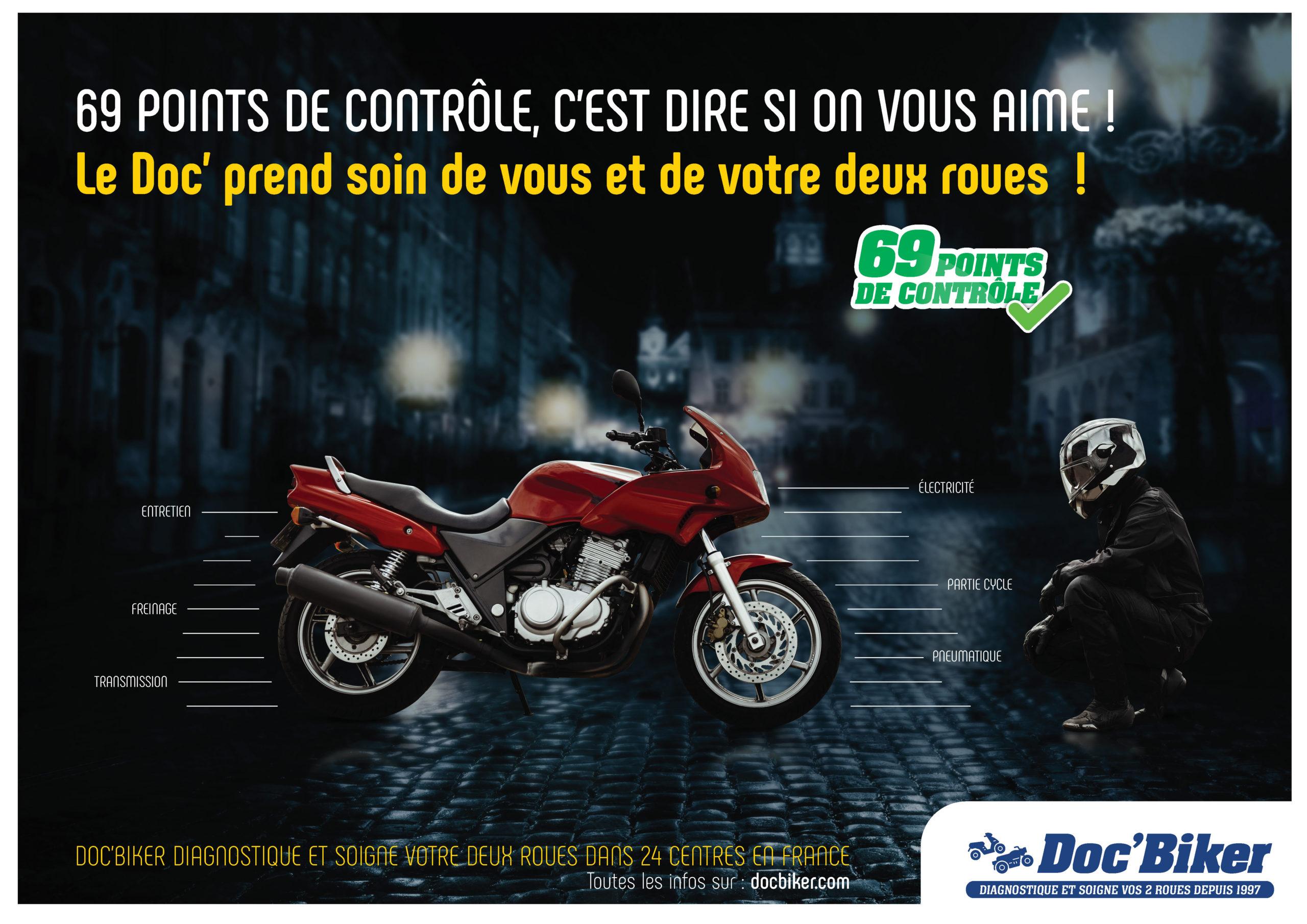 Affiche réalisée par Etude de K pour Doc Biker